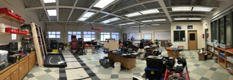 a panorama of our robotics/stem lab